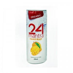 24 Organic Mantra Mango Blast Sparkling Fruit Drink 250 Ml