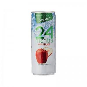 24 Organic Mantra Apple Blast Sparkling Fruit Drink 250 Ml
