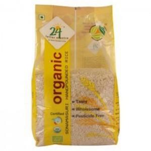 24 Lm Organic Sonamasuri Handpound Rice 1kg
