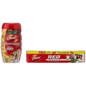 Dabur Chyawanprash - 1 kg with Free Dabur Red Tooth Paste - 150 g