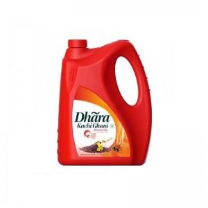 Dhara Kachi Ghani Mustard Oil 5ltr