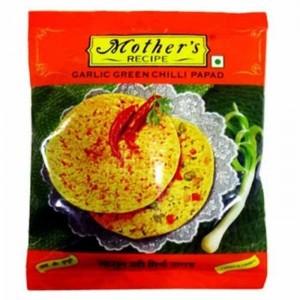 Mothers Recipe Garlic Green Chilli Papad 200g