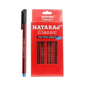 Nataraj Classic Fine Tipped Ball Pen 10 Pc
