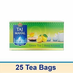 Taj Mahal Green Tea Bags - Honey Lemon, 25 pcs