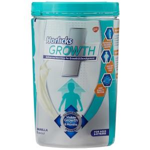 Horlicks Growth Plus - Health and Nutrition Drink, 400 g Pet Jar (Vanilla Flavor)