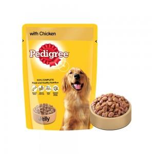 Pedigree Chicken & Rice In Jelly Wet Food 100 gm