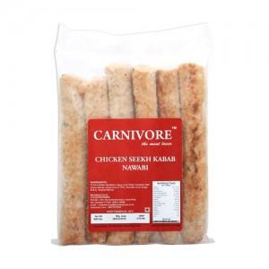 Carnivore Chicken Seekh Kabab - Nawabi, 500 gm Pouch