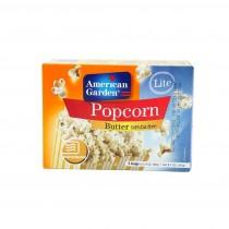 American Garden Microwave popcorn Butter Lite Fat Free 240g