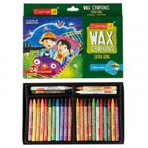 Camel Wax Crayons + 2 Glitters 24 Shades