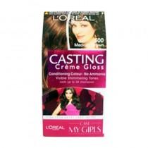 Loreal 500 Medium Brown Casting Creme Gloss Conditiong Gloss No Ammonia 87.5 G + 72 ML