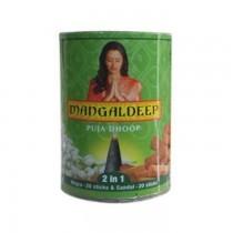 Mangaldeep Puja Dhoopbattis Mogra & Sandal 20pcs Pack 1Pc