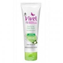 Vivel Green Tea 3-In-1 Face Wash + Scrub 100 Ml