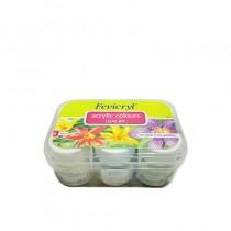 Fevicryl Acrylic Colors Pearl Kit 6 Shades X 10 Ml 6 pcs
