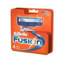 Gillette Fusion - Manual Shaving Razor Blades (Cartridge), 4 pcs