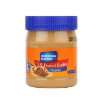 American Garden Peanut Butter Chunky-Crunchy 340 Gm