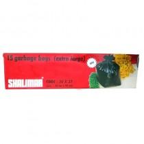 Shalimar 15 Garbage Bags (White) (Extra Large) 76 Cm X 94 Cm