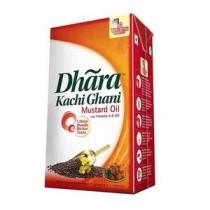 Dhara Oil - Mustard (Kachi Ghani), 1 ltr Carton
