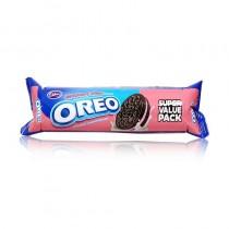 Oreo Strawberry Cream Chocolatey Sandwich Biscuits 150g